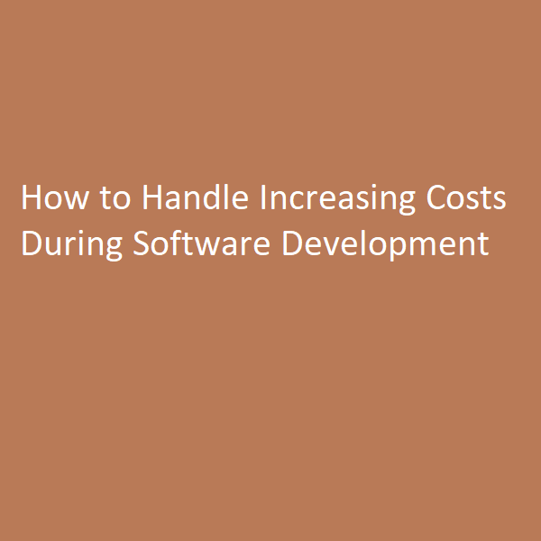 Handle Increasing Costs During Software Development